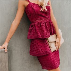 Caterina tiered lace dress